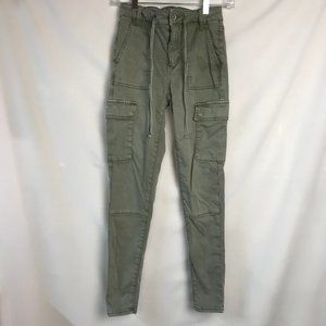 American Eagle Super Stretch Green 4 Pants Cargo